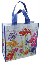 Flower bag,laminated non woven shopping bag