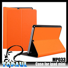 stand color leather cover for ipad mini smart cover case