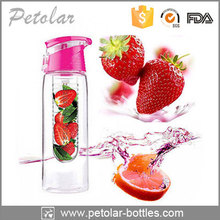 wholesale plastic drinking water bottle infuser ,novelty drink bottle