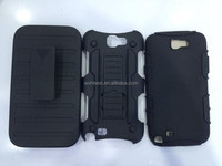 For Samsung Galaxy Note 2 N7100 Armor Belt Clip Case 3 in 1 PC+Silicone Case Made in China Factory