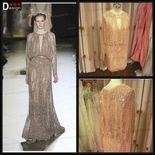 2015 elegant latest Real Picture Long Sleeves Eli Saab Short Evening Dress
