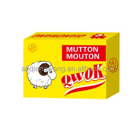 10g*60pcs*24boxes QWOK HALAL MUTTON FLAVOR BOUILLON CUBE