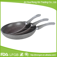 New product of stone coating fry pan with 5 layers non-stick ceramic marble coating