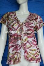 burnout impresso flor da moda blusa