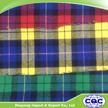 plaid check cotton yarn dyed fabric flannel fabric