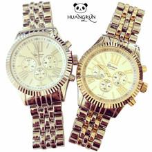 Lastest Three Eyes Dial Luxury Alloy Gift Geneva Watch Sets