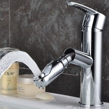 New fashion high chrome plating brass pull out basin faucet