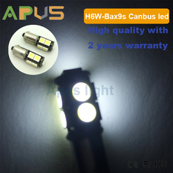 Original Taiwan Epistar SMD5050 canbus free BA9S BAX9s H6W LED light