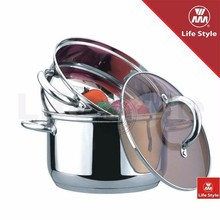 3pcs food steame cookware r set