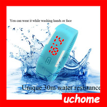 UCHOME 2015 Fashion ladies bracelet wrist watch waterproof Touch Digital Jelly Silicone Bracelet LED Sports Wrist Watch