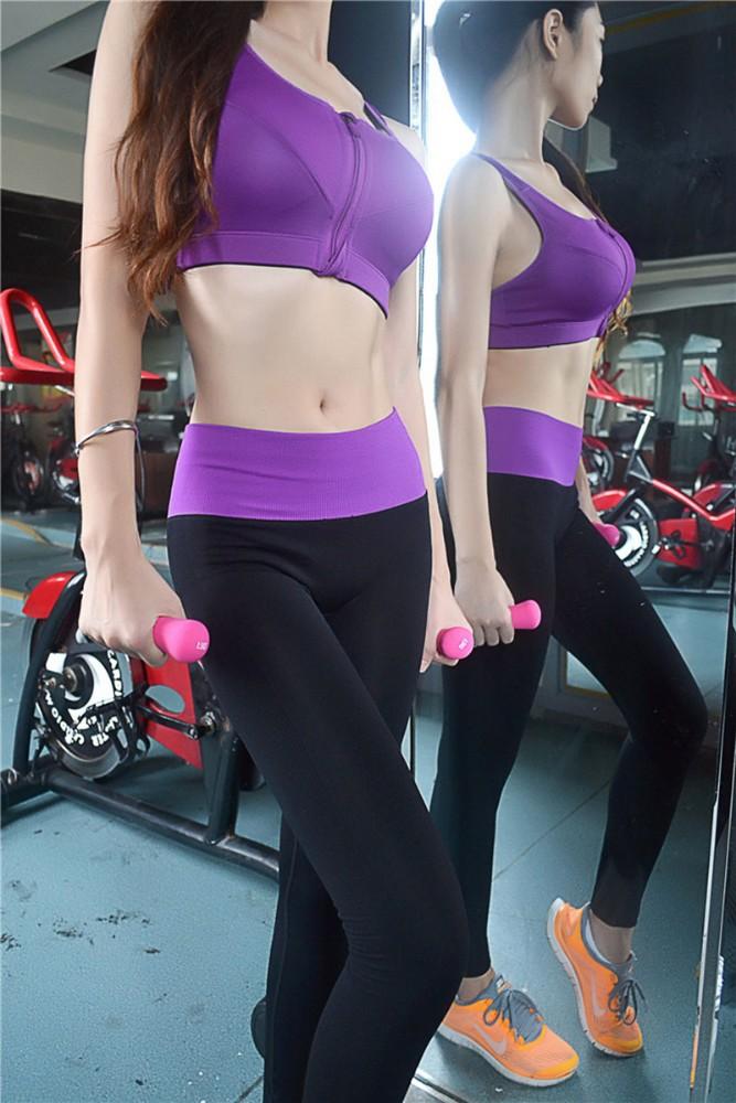 Hot sale ! ladies women wearing lycra long fitness gym yoga capris ...