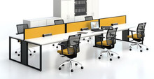 Center Wire management open office workstation with metal frame AM-076