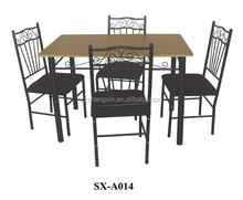dining room set with MDF and 4 fabric chairs