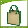 mini jute bag dyed jute burlap cosmetic bag jute bag for candy plain