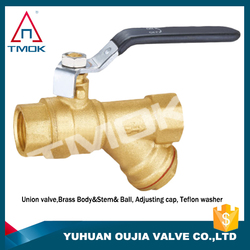 equal shape brass ball valve check valve with high quality long alum handle with plating three way manual power brass ball valve