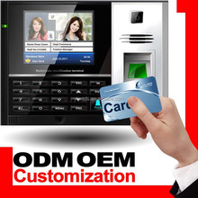 Biometric punch card attendance machine with 3.5'' LCD & HD camera