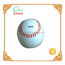 hand painted ceramic volleyball money bank