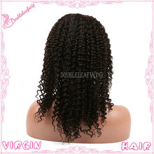 Top Qulaity Unprocessed Brazilian Hair Lace Front Wig Virgin Hair Afro Kinky Curly Lace Front Wig for Black Women