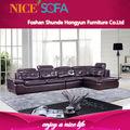 Moderna de couro novo design sofá de canto, sofá de canto de modelo, design simples sofá conjunto a829l