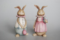 home decor resin lover rabbit/hot sell resin decoration