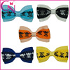 2015 Korean Fashion Hair Accessories Boutique Printed Hair Bows With Clip For Girls(CNHBW-13082335)