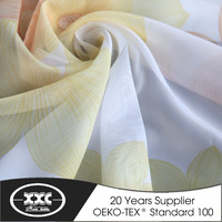 High quality beautiful voile printed cheap sheer textile curtain stock 2015