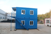 demountable well designed prefab prefab cabin container house heat insulation