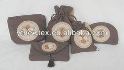 china custom handmade linen gift bag