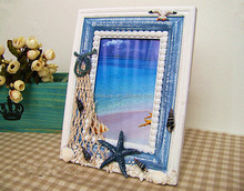 custom display beach style wooden photo frame