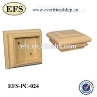 2014 high quality and popular flat top wood post cap for fence post decoration
