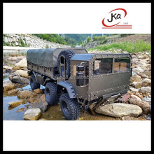 1/10 scale model 6x6 military truck rc car kit chassis hobby #JKA-D258