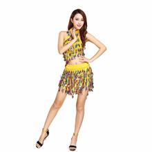 Bestdance sexe dames de salle de bal de danse latine robe adultes robe de danse jupes couleur sequin robe OEM