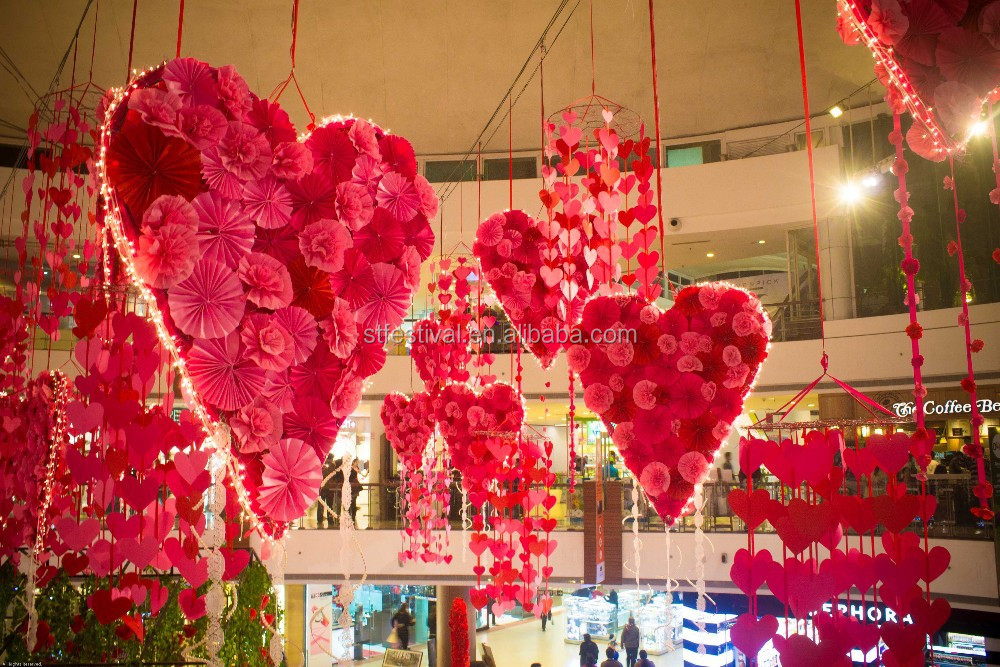 2015 suspendus d coration saint valentin pour faire du for Decoration exterieur st valentin