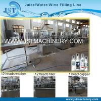 Linear type wine bottling machinery