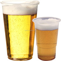 100 HALF PINT CLEAR PLASTIC DISPOSABLE PARTY BEER GLASSES CUPS 300ml 10oz