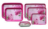 plastic tebleware square / rectangle food tray melamine