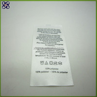 printed clothing label/care label material/wash label