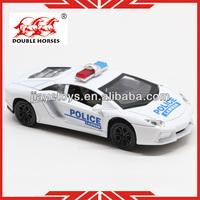 5012-6 police metal model car kits 2013 for kids pull back car 1 32 scale diecast model cars