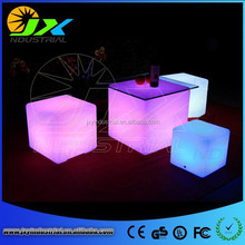 christmas decorations comfortable shining changeable RGB color waterproof IP68 remote control led cube furniture sale