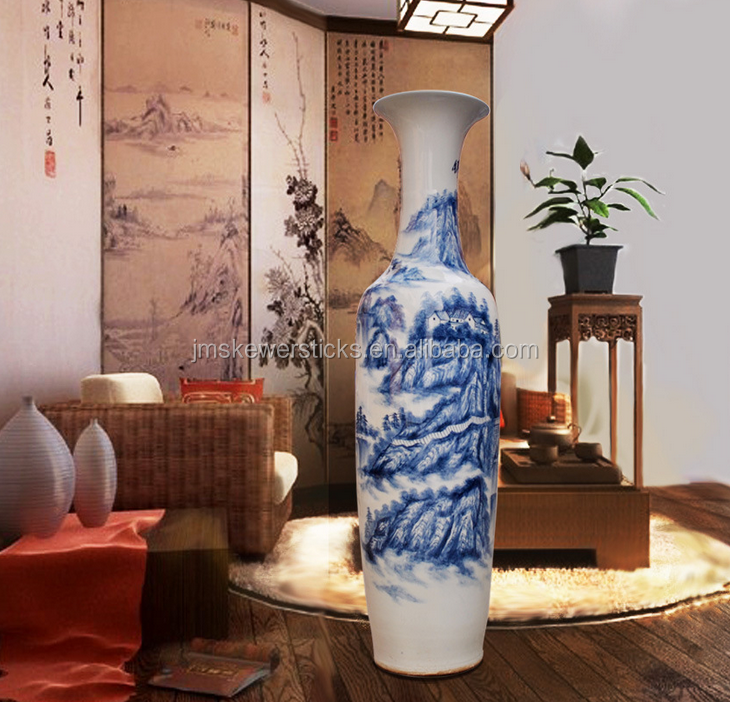 chinese large hand painted porcelain vases for home decor