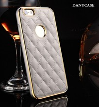 Metalilk luxury design For Iphone 5 leather mobile case
