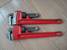 AMERICAN TYPE HEAVY-DUTY PIPE WRENCH, TWO EYE BROW