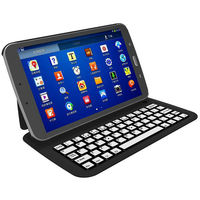 Ultrathin Aluminium Alloy Bluetooth Keyboard Leather Case Cover for Samsung Galaxy Tab