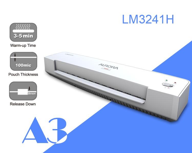 Aurora Lm3241h Hot Laminator A3 3 5min Warm Up Time 100mic