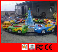 2015 Amusement rides roller coaster kids games toy cars electric train ride Mini Shuttle park ride