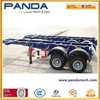 PandaMech 2 axle bogie suspension container chassis trailer