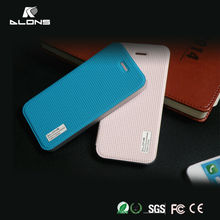 5 Colors Ultra Thin Top Quality PC+PU Flip Mobile Phone Cover Leather Case For iPhone 5