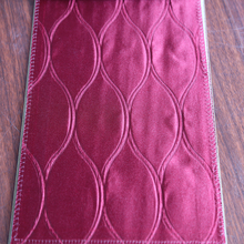 Newest Dubai cafe 100% polyester curtain fabric for embossed silk drapery