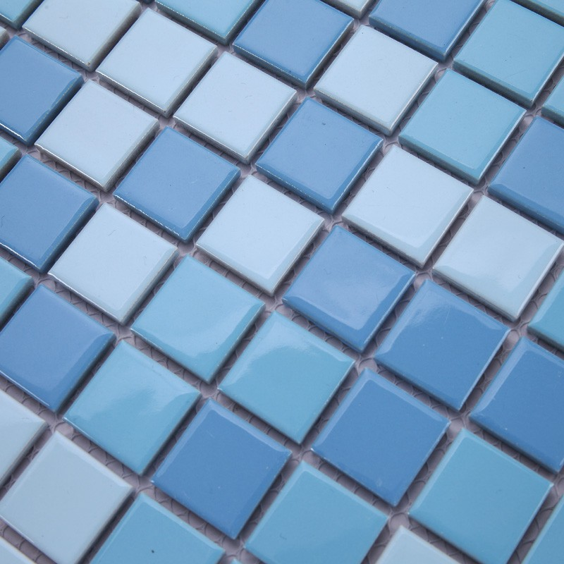 Light blue floor tiles