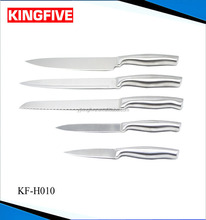 5 pcs As seen TV stainless steel kitchen knife